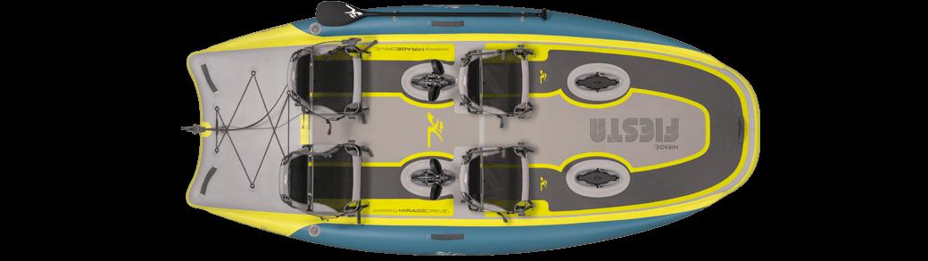 Kayak Hobie iTrek Fiesta topview