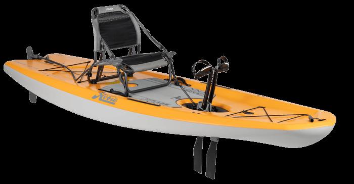 Hobie Kayak Mirage Lynx Side View Papaya